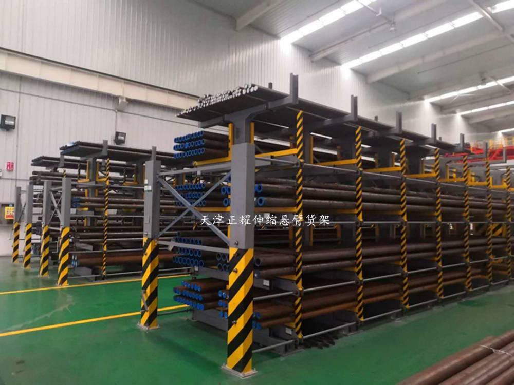 福建棒料存放架 伸缩式管材货架图片 钢管货架