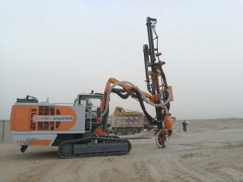 沙漠骆驼~浙江志高掘进一体全液压顶锤钻机T635矿山钻孔爆破