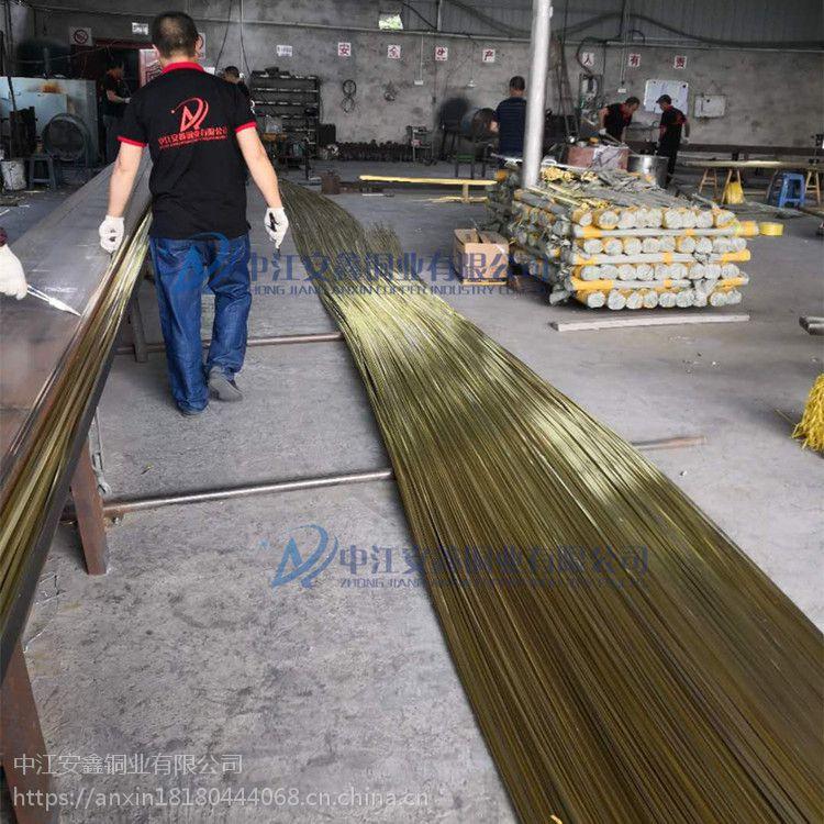 安鑫铜业 T型半圆梅花形楼梯防滑铜条 专用楼梯防滑分隔铜条 H59环保黄铜 支持定做