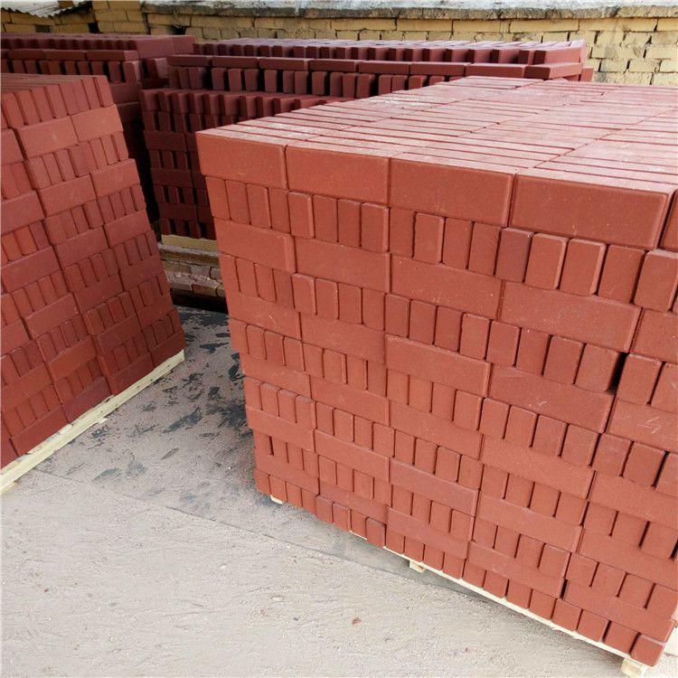 烧结砖厂家,棕色面包砖红色人行道砖灰色烧结砖,咖啡透
