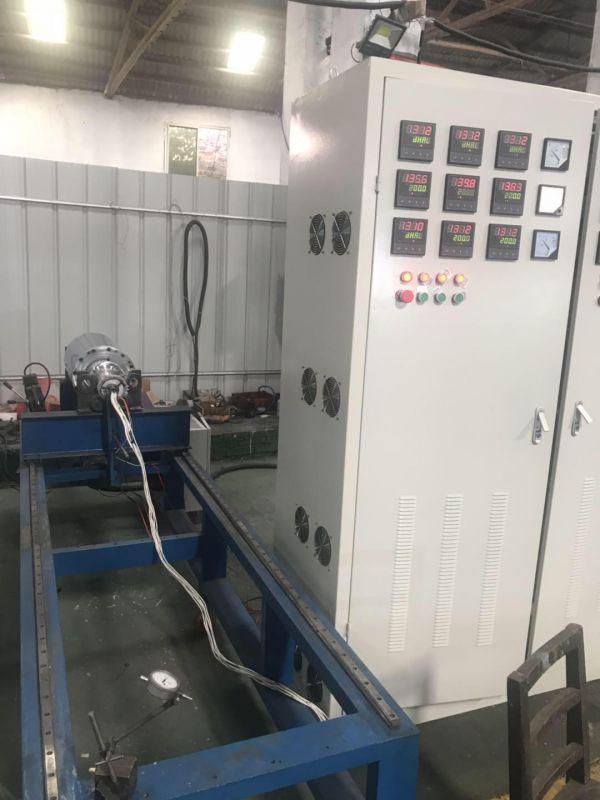 电磁加热辊出厂前的温度测试