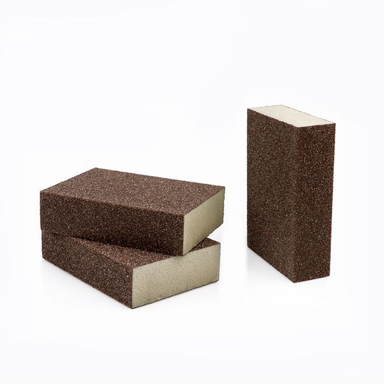 海绵砂块打磨漆面实木家具打磨