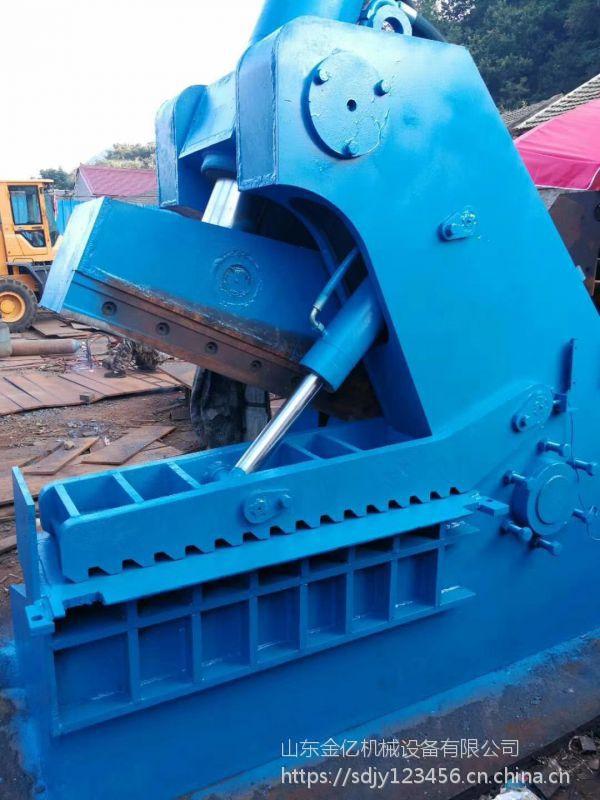 安徽废铁废铝450吨虎头剪切机 虎头剪和鳄鱼式剪切机区别金亿新型龙门式切断机