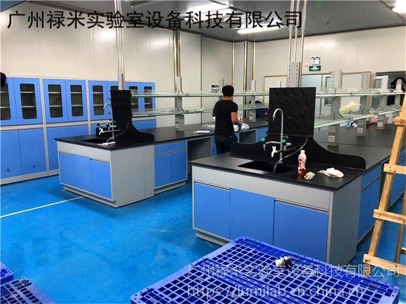 生产化验室全钢结构中央实验台配套安装