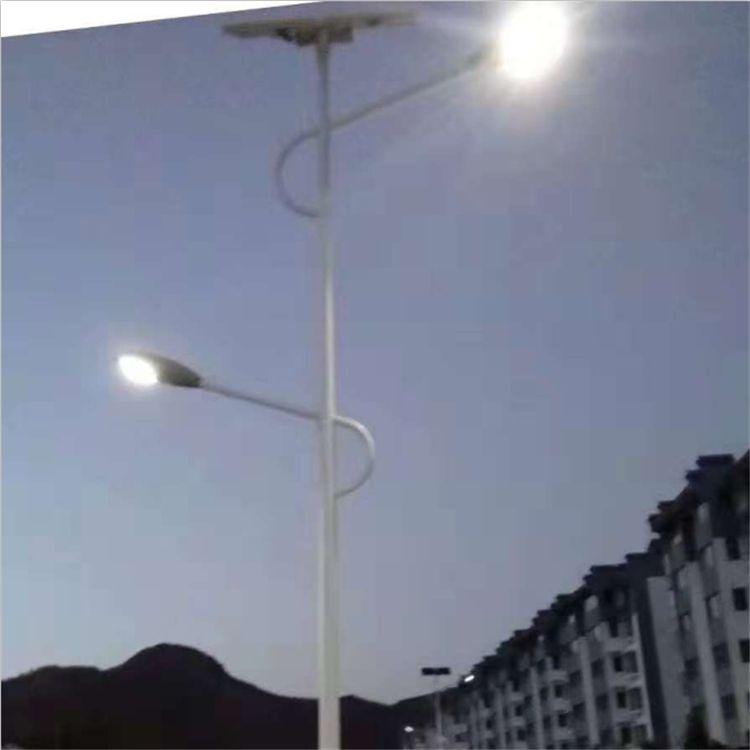 承运BY-020双臂太阳能路灯6米60W新农村建设专用LED一体化照明路灯
