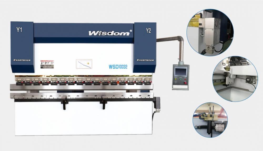 汉智数控折弯机4+1轴调试运行配备大屏数控系统