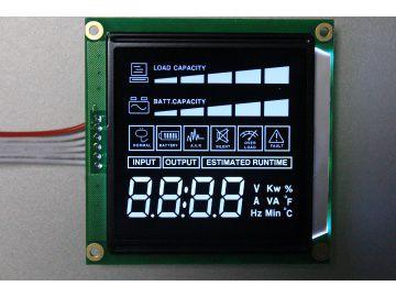 深圳定制VA超宽视角黑底白字LCD液晶屏HCS55231液晶屏