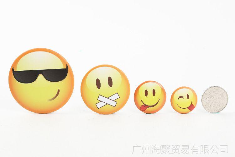 emoji颜徽章亚克力卡通表情七彩动态QQ微信搞微信胸针鸭趣味文字图片