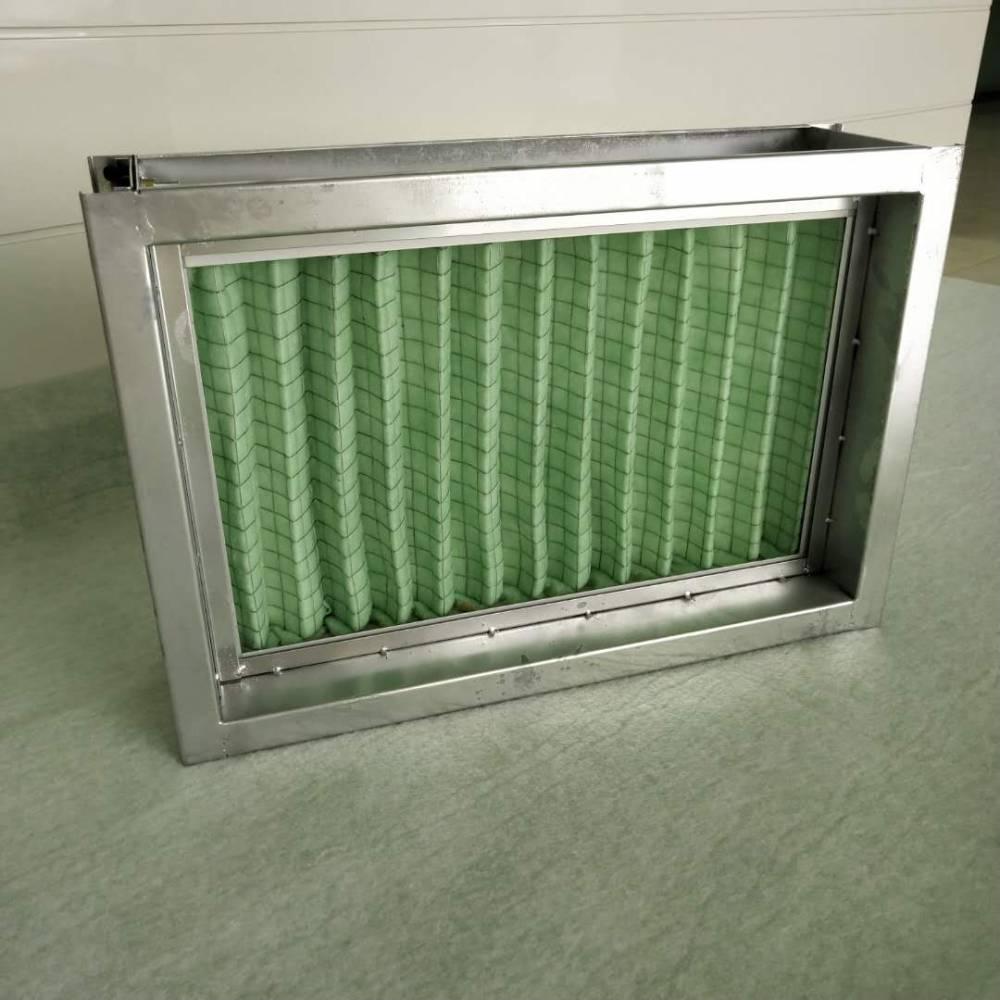 抽拉式过滤器 风管过滤器段 带法兰初效过滤段 风管过滤