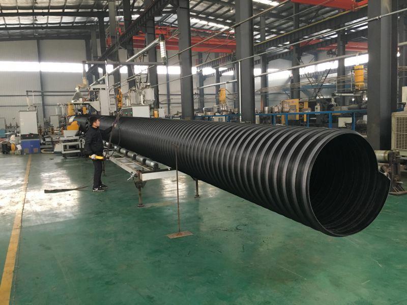 大口径钢带缠绕管生产过程