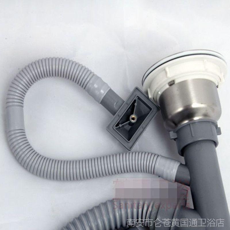 厂家直批水槽单双槽不锈钢304下水器洗菜盆加厚下水工程推荐