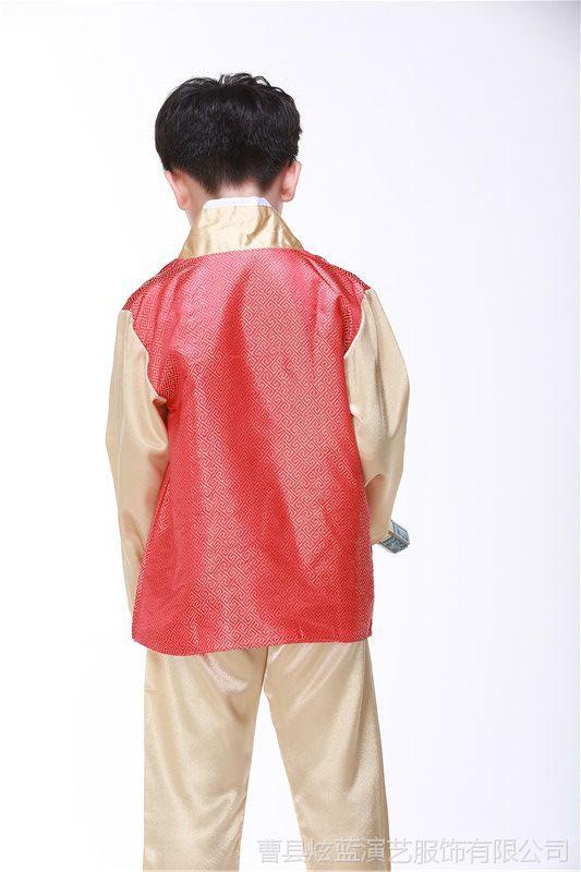 新款韩服男装朝鲜演出服韩国传统服饰朝鲜族韩