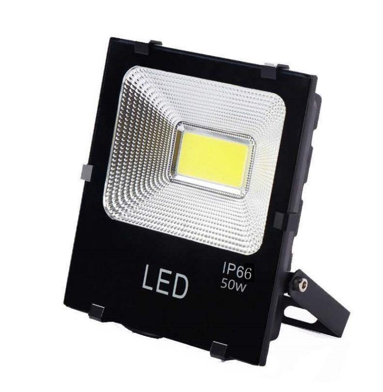 黑金刚LED集成贴片泛光灯5054投光灯防水投射灯超薄节电车间照明