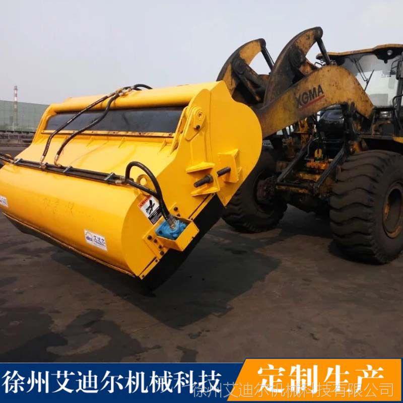 工厂工地垃圾铁屑煤灰扫地机 艾迪尔 小型铲车前进清扫器价格