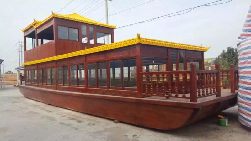 船舶制造 餐饮船制作 水上餐厅船 大型表演画舫船