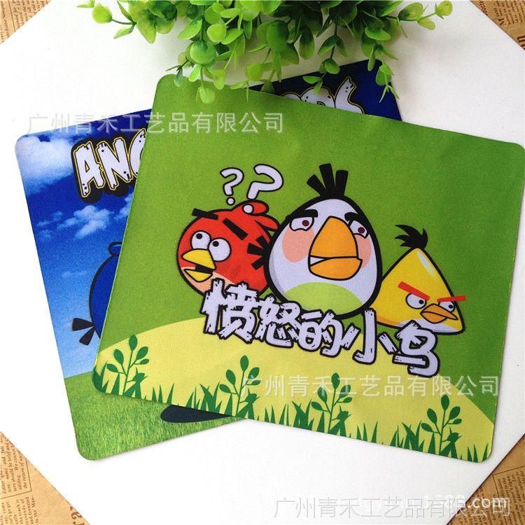 卡通鼠标垫定制 广告鼠标垫定做 橡胶布面热转印 出厂热销批发
