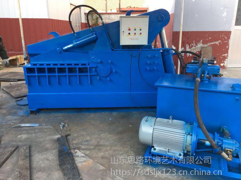 山东思路生产金属剪切机报废汽车拆解后废料切断机160吨鳄鱼剪