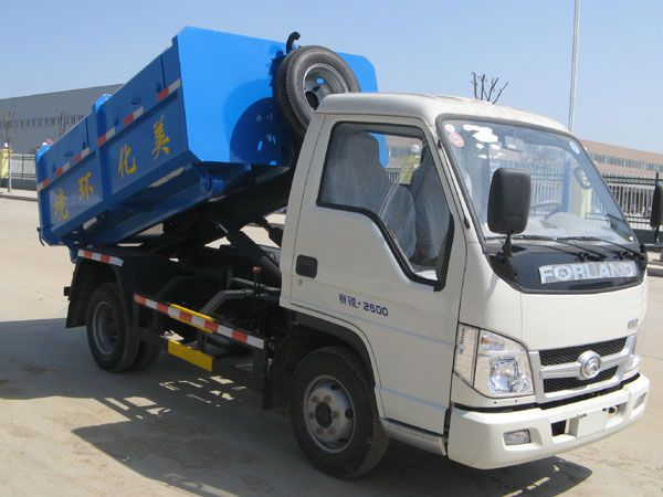 国四福田3方勾臂式垃圾车