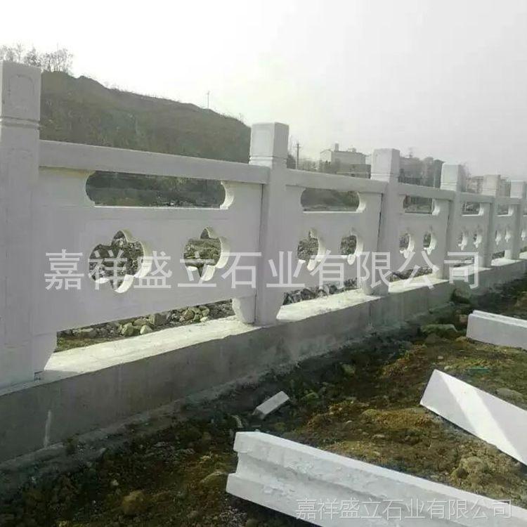 定做石头雕刻镂空栏板 大理石寺庙阳台栏板