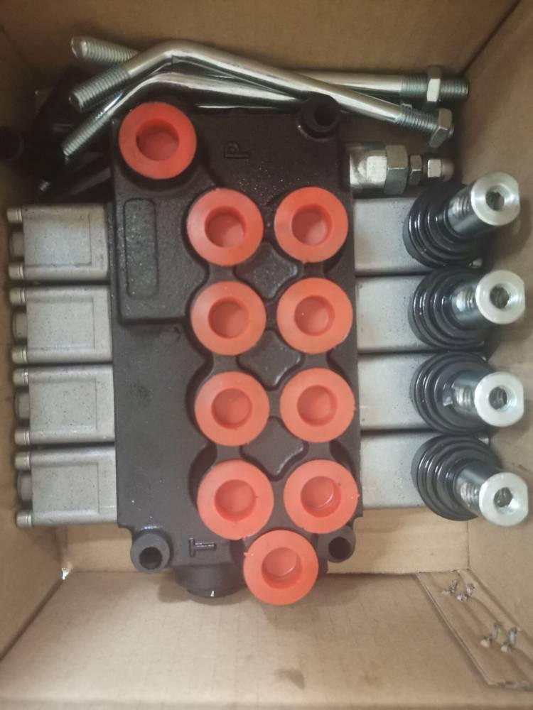 液压四联多路换向阀xs-B017分配器D(4)L10-4G-YOOO同款手动阀