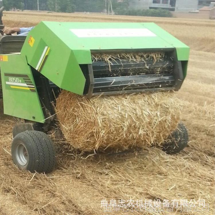 厂家供应秸秆打捆机 麦秆打捆机 牵引式捆扎机 牧草捡拾捆扎机