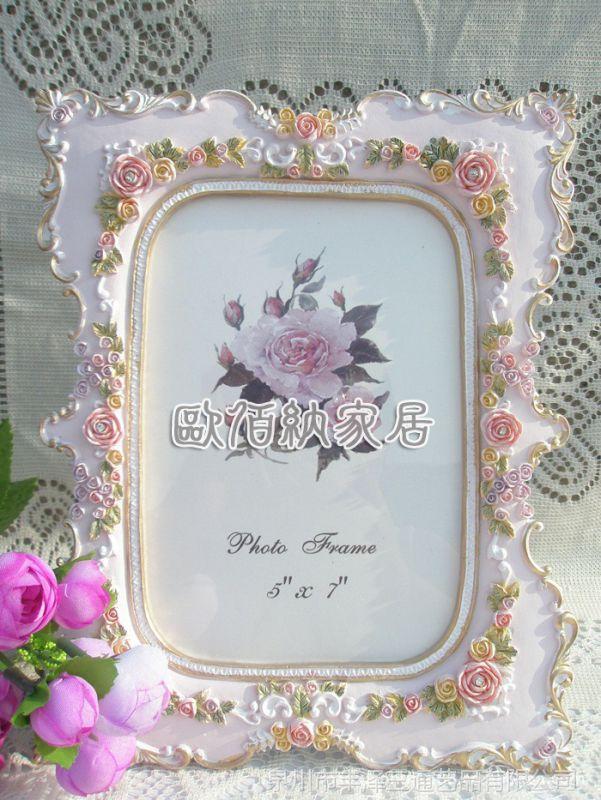 7吋混批韩版手绘描金树脂相框欧式花纹结婚婚纱照片商务活动礼品