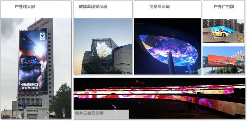 青岛香港路无结构灯条屏,现实版大广告才有大收益