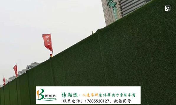 房产项目围墙草坪(案例:莱芜、泰兴)