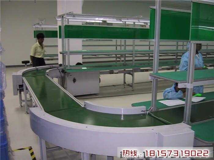 苏州爬坡输送机流水线品牌 PVC皮带流水线推荐