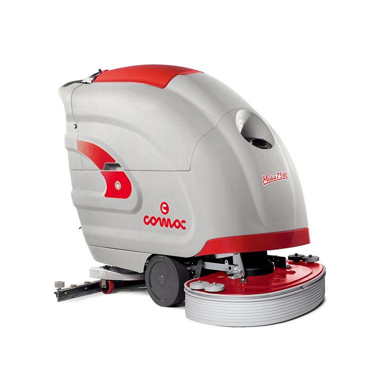 双刷工厂电动擦地机自动洗地吸干机