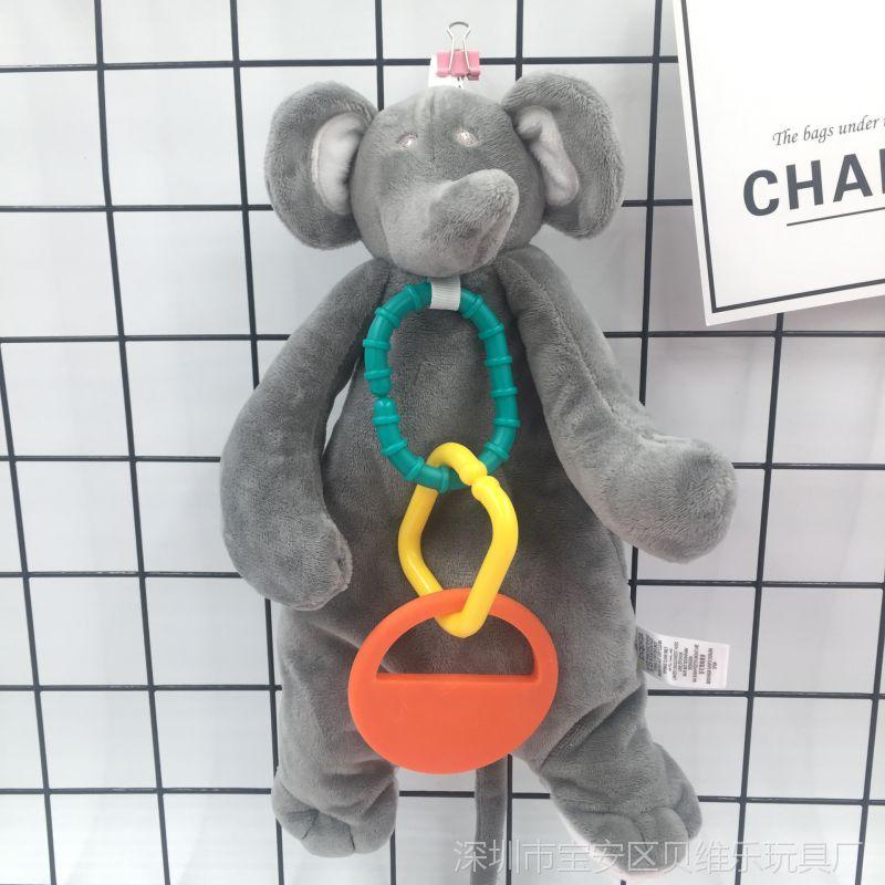 婴儿安抚巾毛绒玩具玩偶可入口咬磨牙胶安抚宝