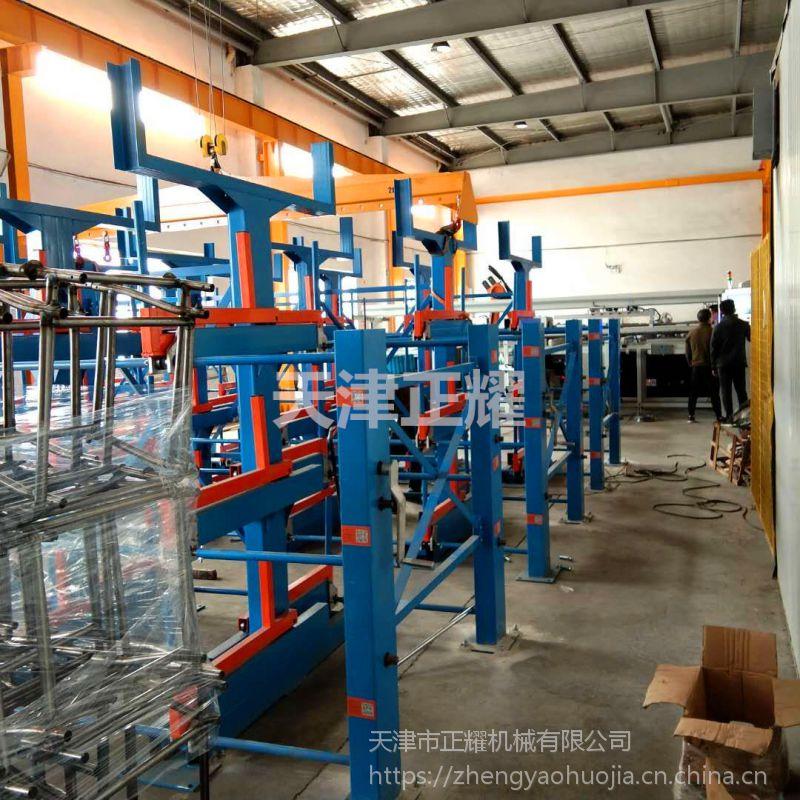 安徽重型伸缩悬臂式管材货架 放棒料用货架