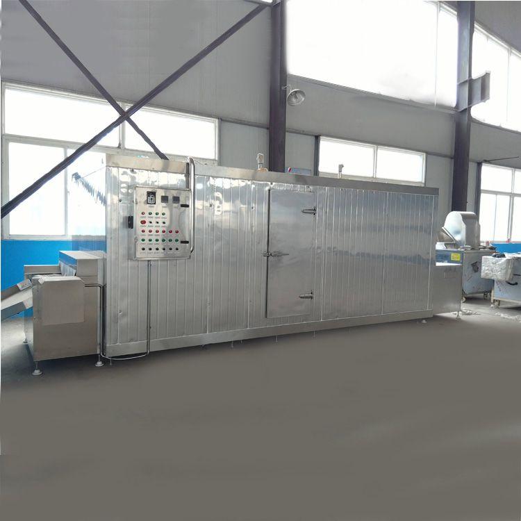 隧道速凍機 連續式蘿卜條速凍設備 超低溫快速速凍果蔬設備