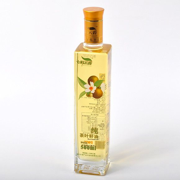 晶白料500ml四方油瓶