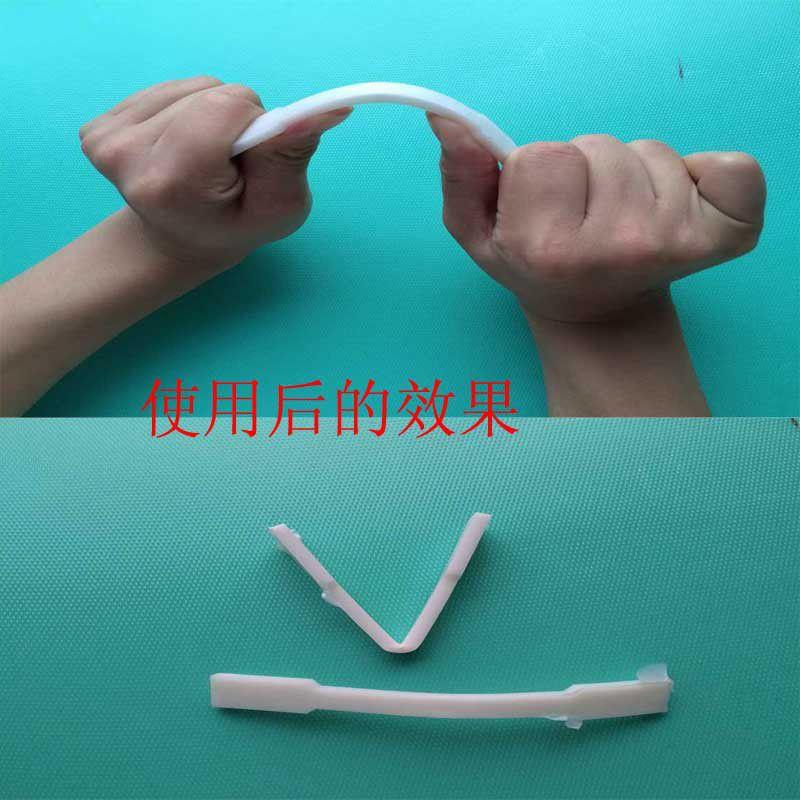 塑胶增韧效果展示 样条对折弯曲不断裂