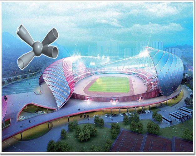 蚌埠奥体中心钢结构铸钢节点