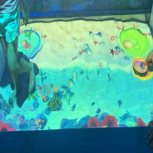 互动沙滩捕鱼投影淘气堡砸球捞鱼沙池互动游戏淘气堡