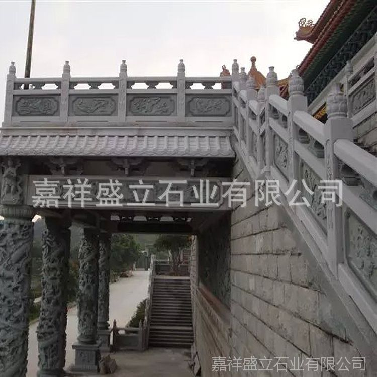 厂家供应定做大桥石头护栏 市政水库大理石栏板