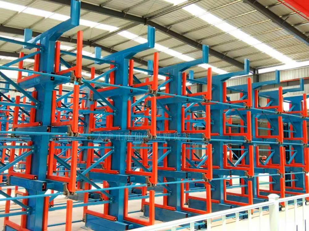 安徽贵重板材存放架 立式板材货架案例 存取安全无磨损