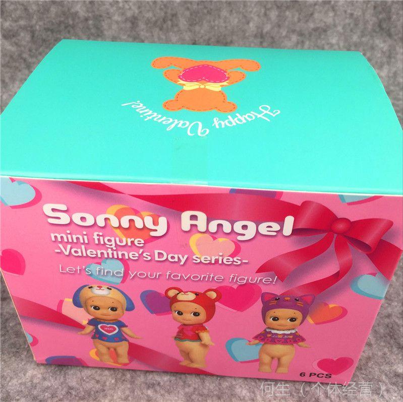 丘比特公仔 天使娃娃 爱心情人节礼物版盲盒包装 全6款蛋糕装饰