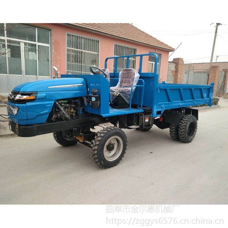 性能稳定的四不像运输车 双排轮柴油自卸运输车崎岖山路用 四轮拖拉机四驱