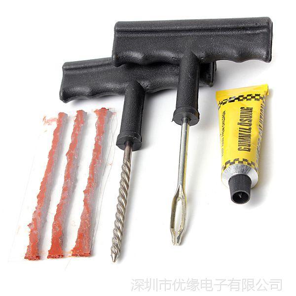 真空胎补胎工具 汽车补胎针 6件套轮胎修理工具 现货批发