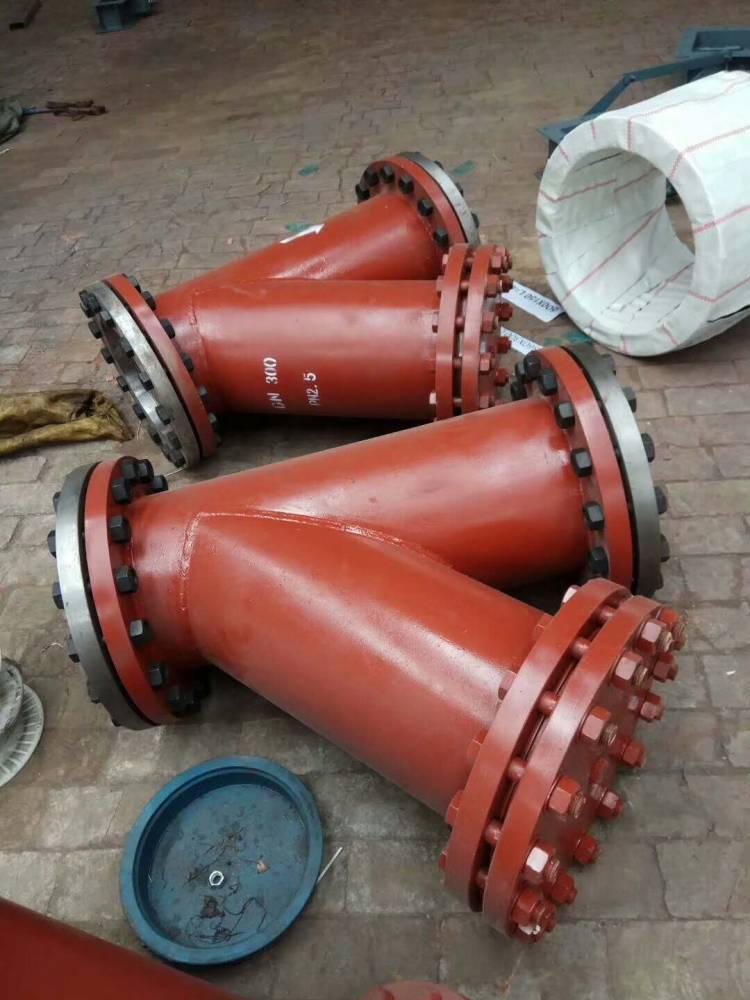 供应DN350 40KG高压法兰式Y型过滤器厂家