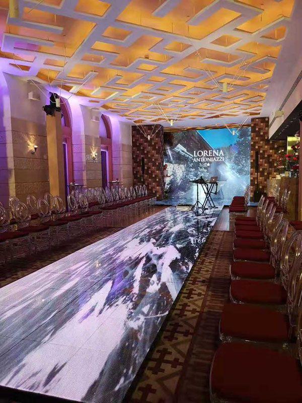 巴科互动式LED地砖屏打造俄罗斯极致浪漫音乐厅