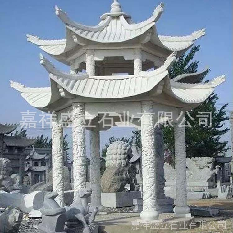户外园林石材亭子雕刻 广场景区休息凉亭子 可定做