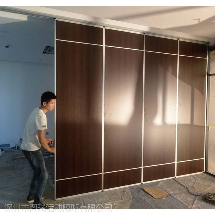 供应室内隔断折叠门 免漆板饭馆活动折叠门隔断