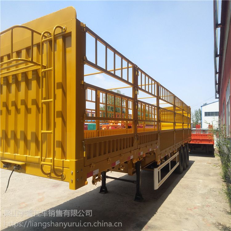 供应 半挂车 仓栏半挂车 1.8米高低板半挂车