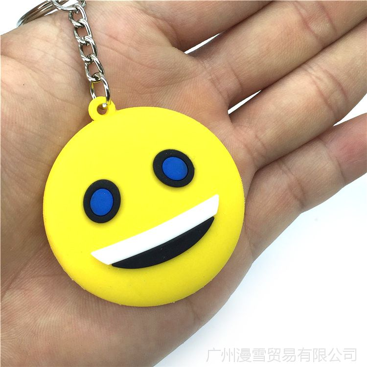 QQ表情项链表情钥匙扣挂饰包带图案瑞克和小黄人搞笑双面吊坠字图片