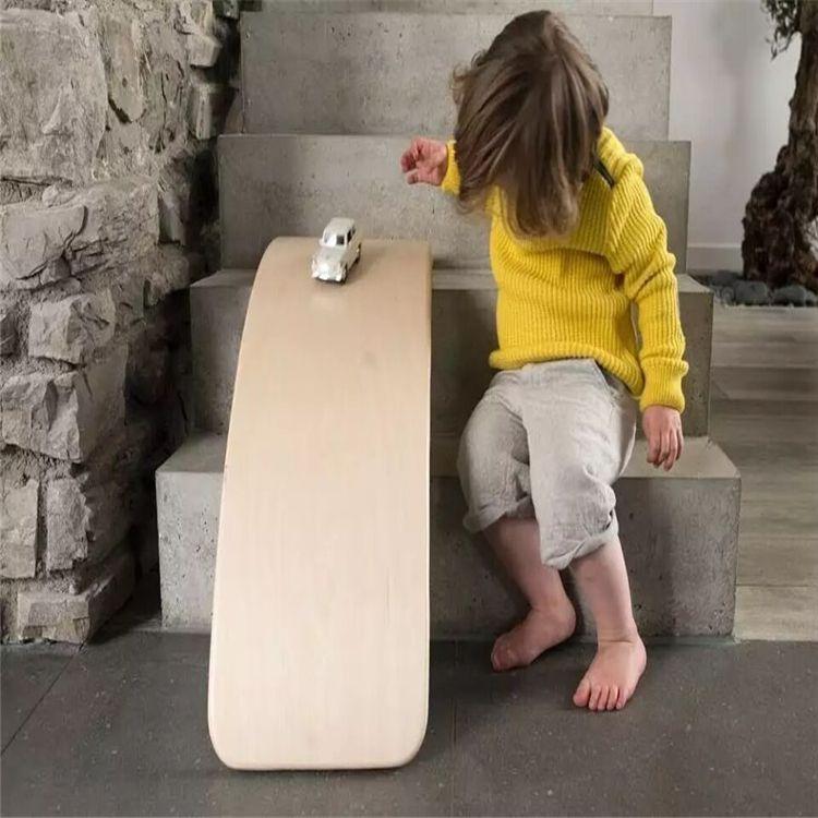 儿童跷跷板平衡板弯曲木