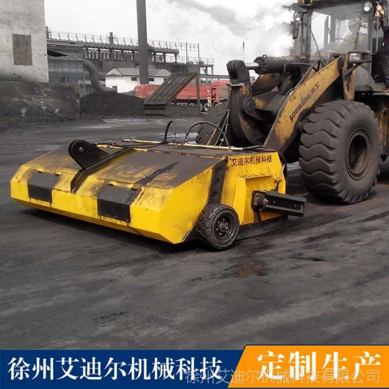 山猫滑移配封闭清扫器 柳工装载机扫地机价格工地路面除尘设备
